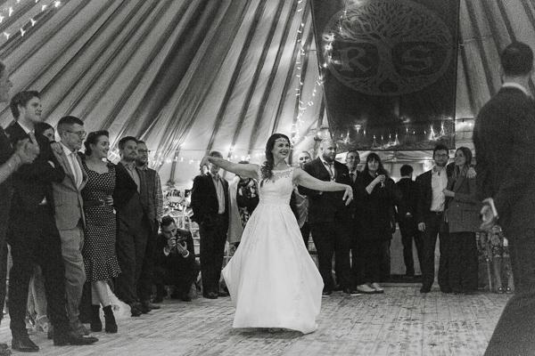 bride and groom staring first dance ardkinglas loch fyne