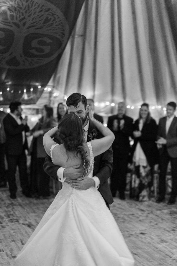 wedding photographer glasgow bride and groom dancing