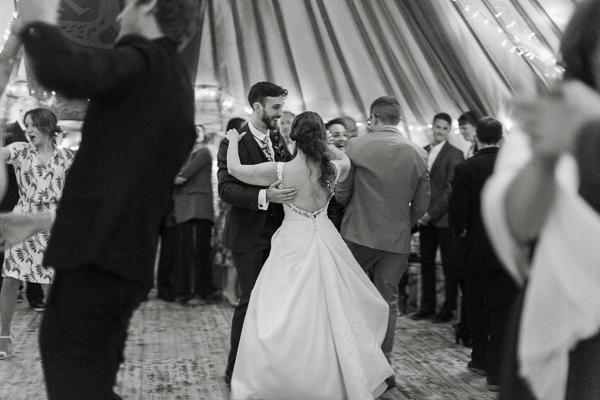 dancing during wedding at ardkinglas estate