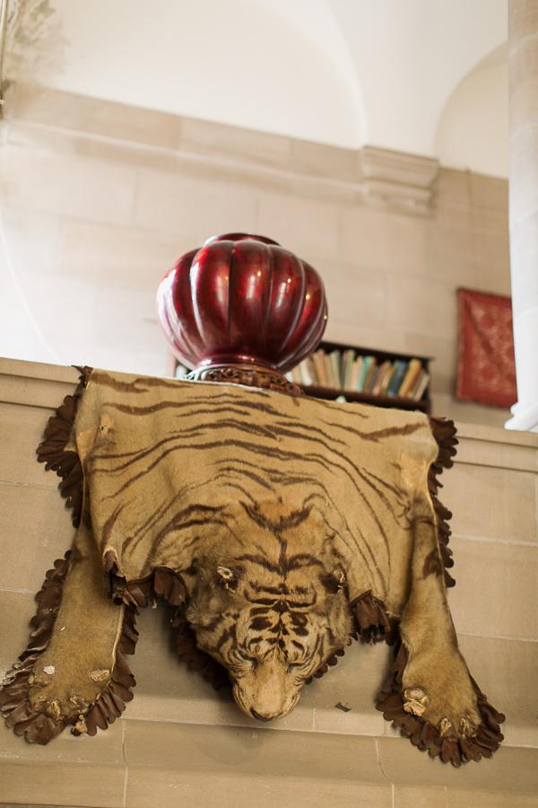 vintage tiger skin at arkinglas house