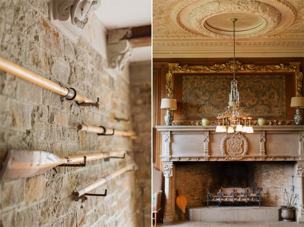 interior of arkinglas wedding venue scotland