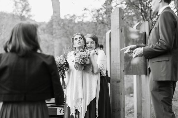 bridesmates huging