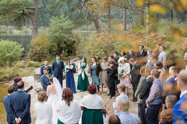 weddign ceremony near glasgow outside loch side