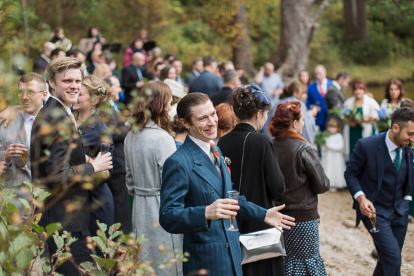 wedding guests at ceremony