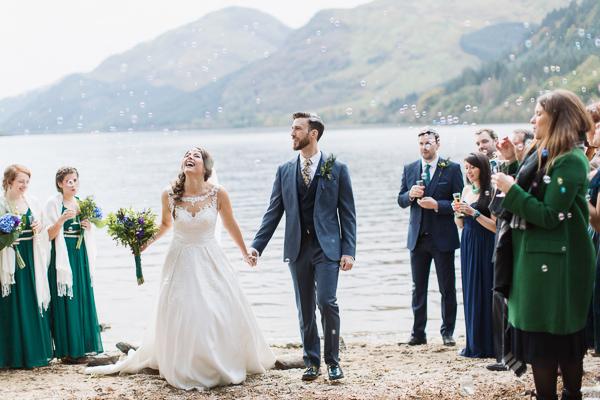 bubbles at wedding ceremony