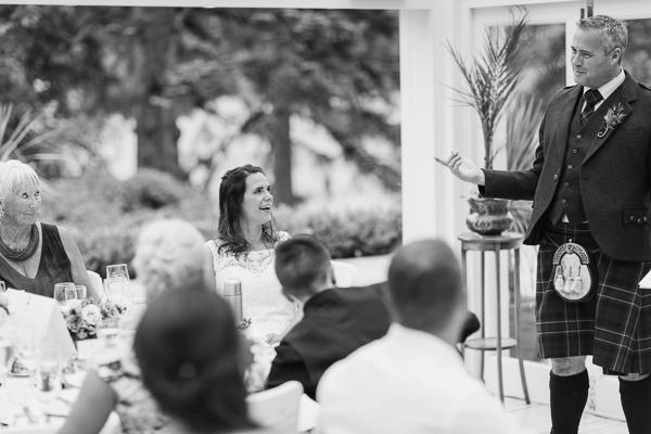 groom during his speech