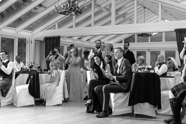 guests claping during first dance