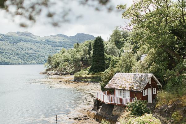 summer house The Lodge on Loch Goil Wedding