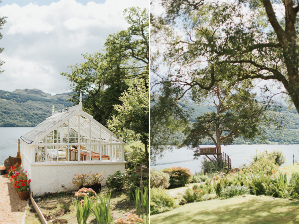 old greenhouse and tree stand at the lodge on loch goil