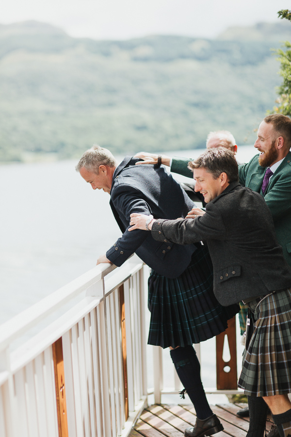 funny photo of groom trying to run away before ceremony