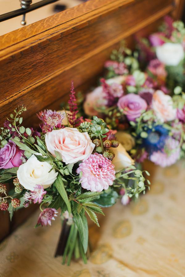wedding flowers at The Lodge on Loch Goil Wedding