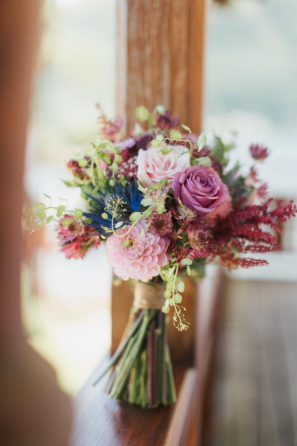 flower bouquet on balcony