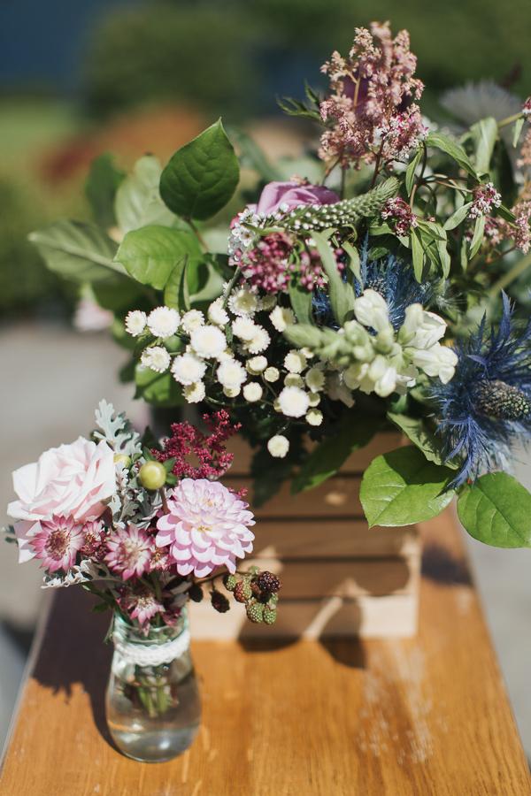 wedding flowers decorations at ceremony
