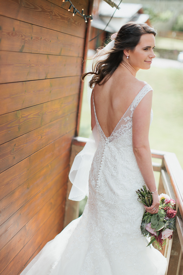 bride at the lodge on loch goil