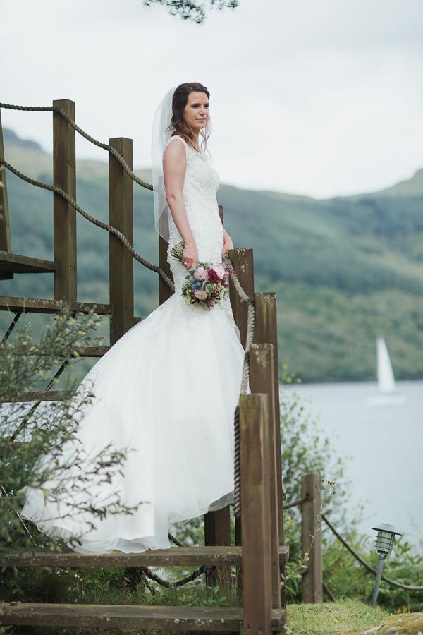 bride standing portrait