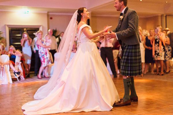 cameron house wedding photographer first dance