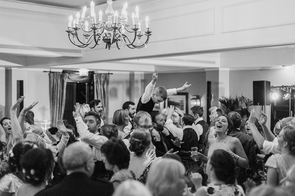 god party during cameron house hotel wedding