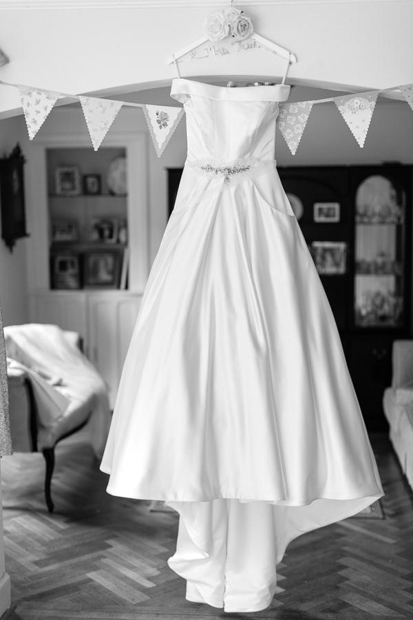wedding dress hanging bearsden house glasgow