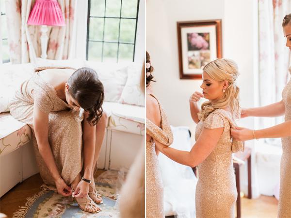 final touches for a wedding beasden glasgow