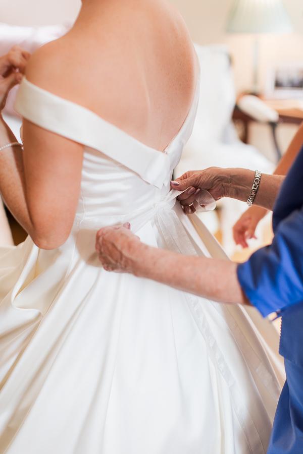 wedding dress photographed in bearsden