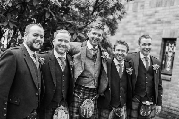 groom with his ushers at the wedding bearsden scotland
