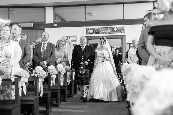 walking down the aisle bearsden church scotland