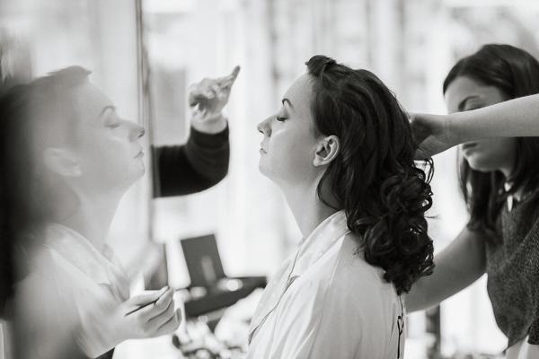 bride gettin ready in bearsden glasgow