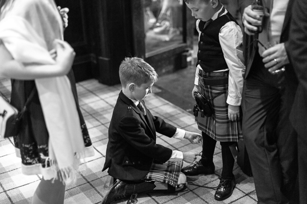 kids during wedding at cameron house hotel