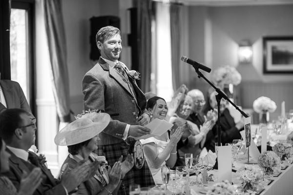 groom starting his wedding speech glasgow