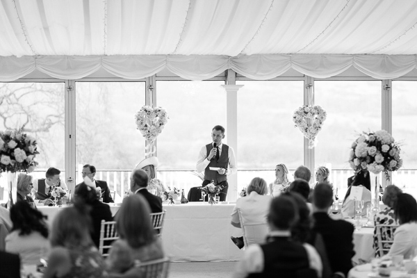 grooms speeches at the wedding mar hall scotland