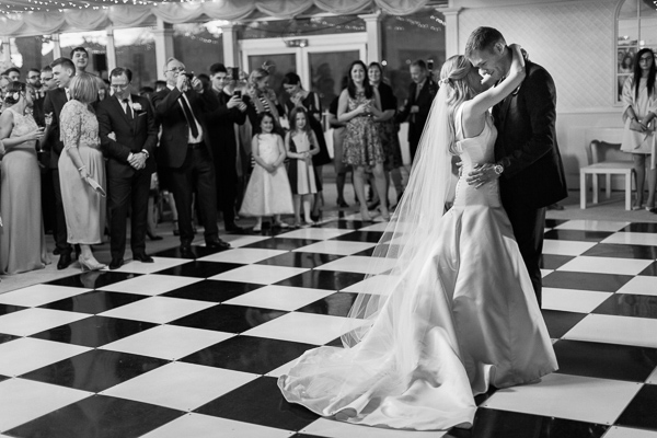 dance floor with a married couple mar hall scotland