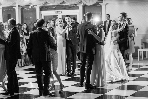wedding guests on a dance floor mar hall glasgow