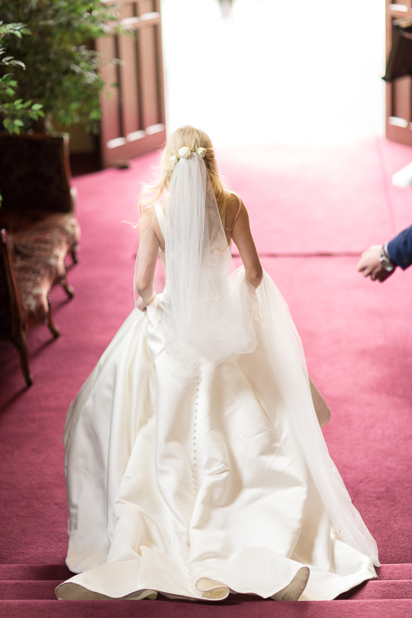 bride walking on the red carpet mar hall scotland