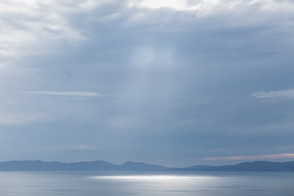 evening landscape looking at scottish islands