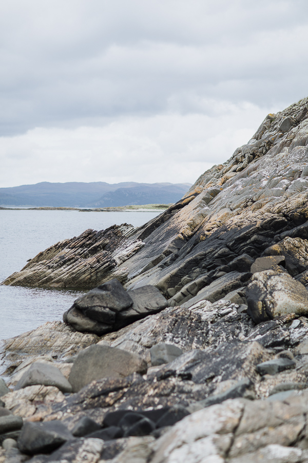 rocky beach at crear