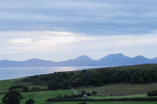 landscape looking at scottish islands at crear