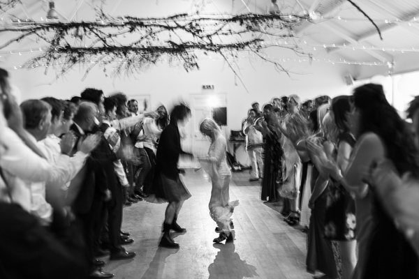 bride and groom dancing scottish dances