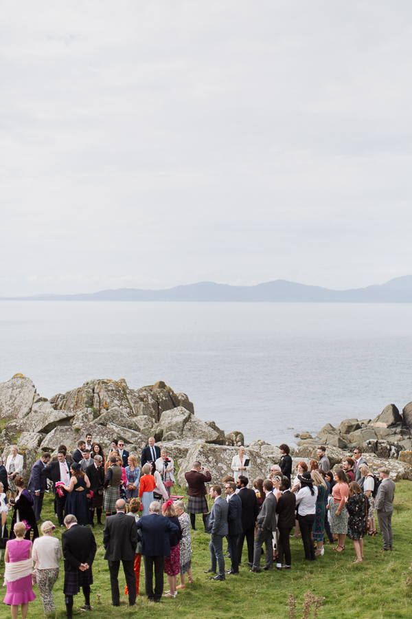 beach ceremony at crear scotland