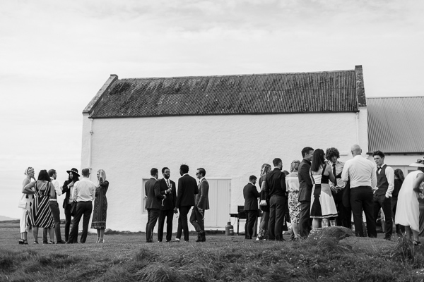 guests at crear wedding venue in scotland