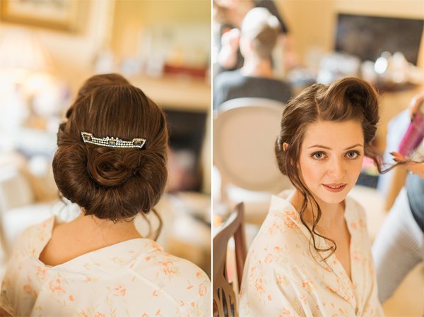 bride with hair piece fotogenic of scotland