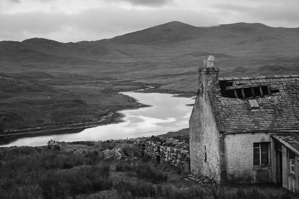ruined house on isle of harris