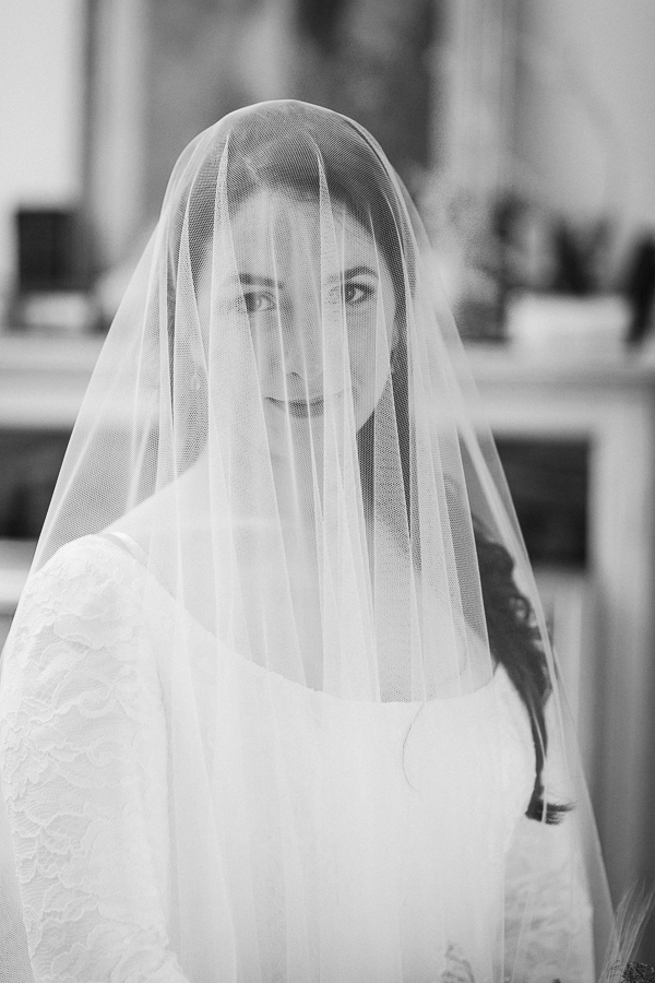 portrait of the bride in veil