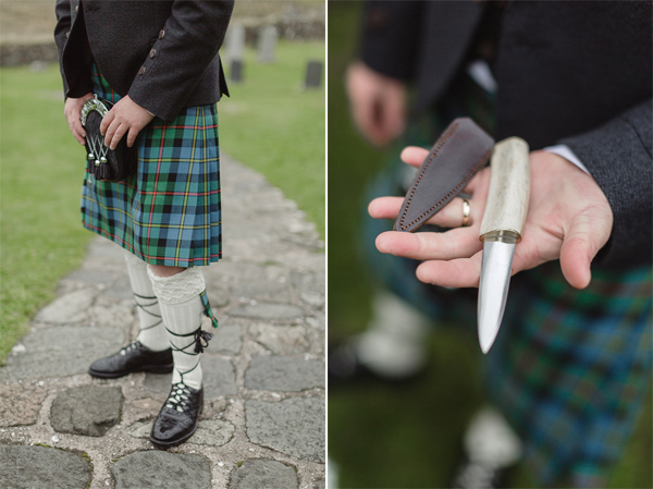 groom holding his Sgian Dubh
