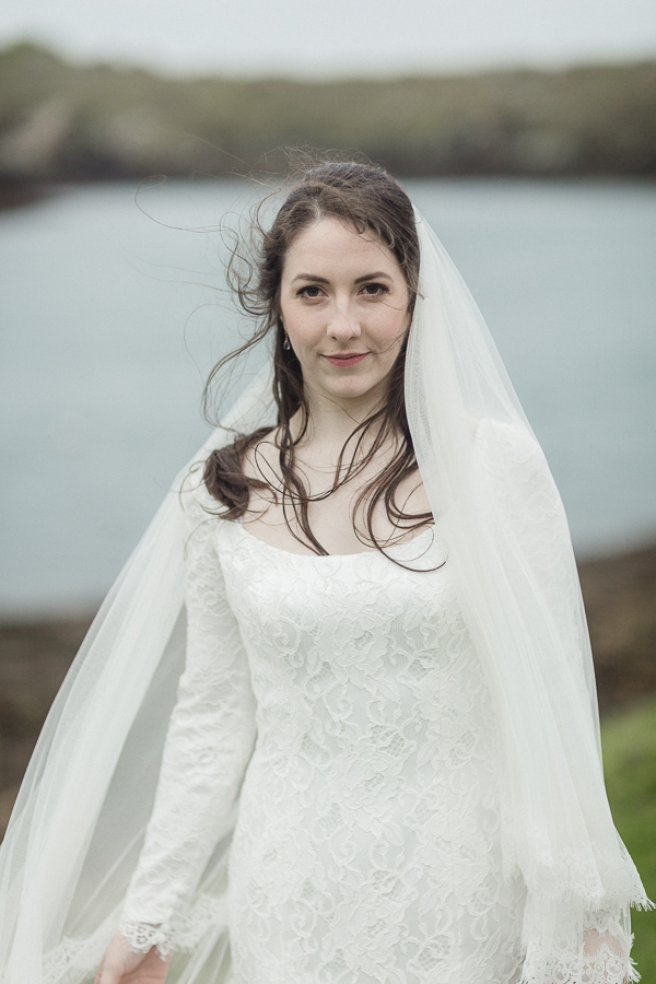 portrait of a scottish bride isle of skye