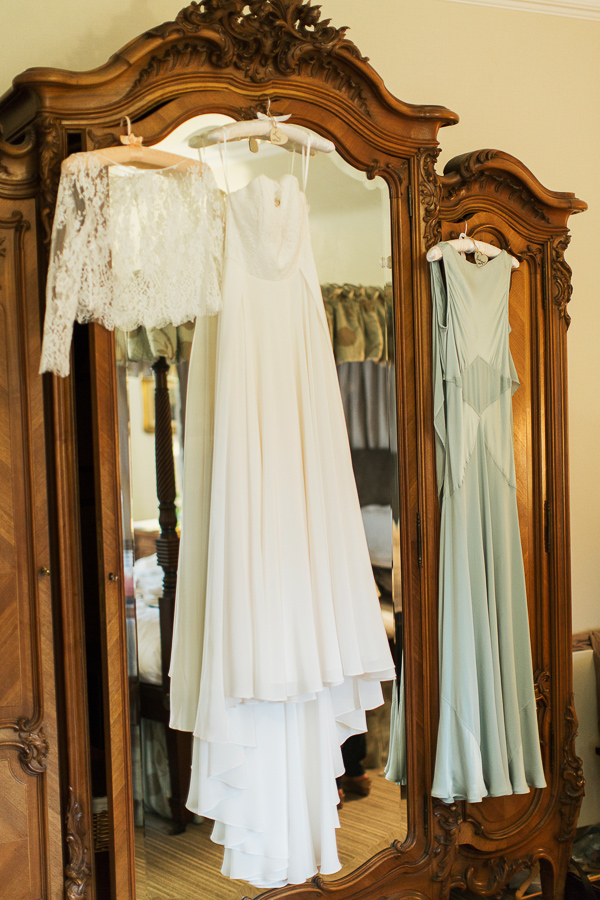 wedding dress at the wedding venue cromlix