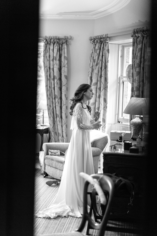 bride getting ready at the cromlix house