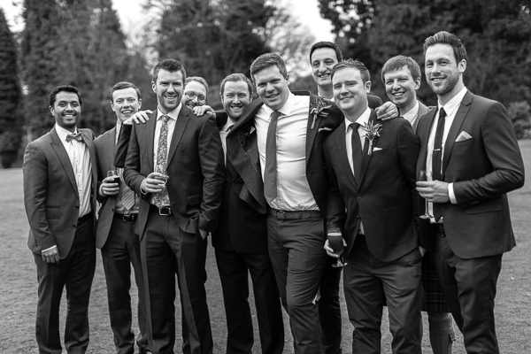 grooms friends at the wedding cromlix house