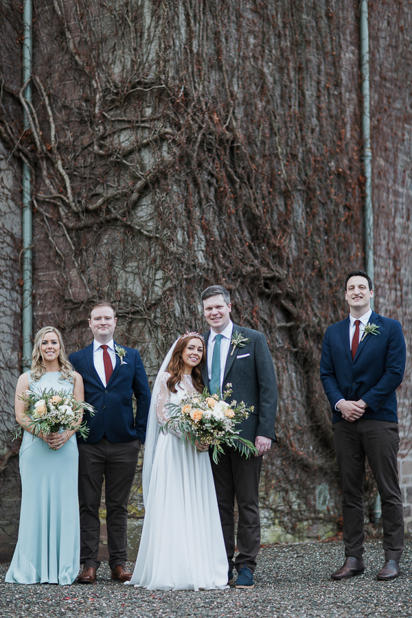 bridal party shots cromlix house