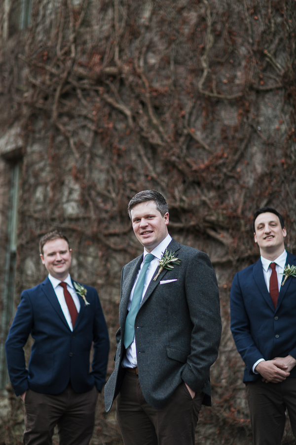 groom and his ushers at cromlix house