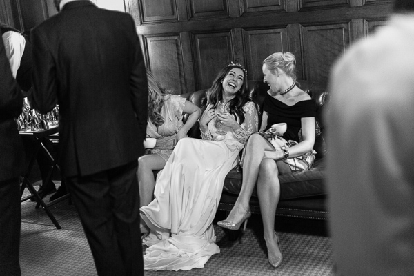 bride laughing cromlix house